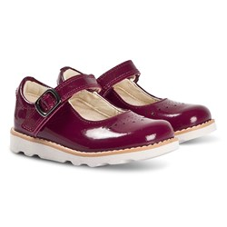 Clarks Crown Jump Mary Janes Plum Patent