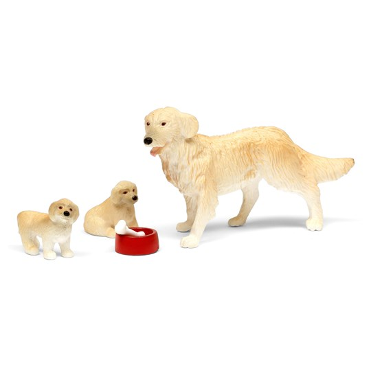 LUNDBY Dolls Dog Family Doll Set White