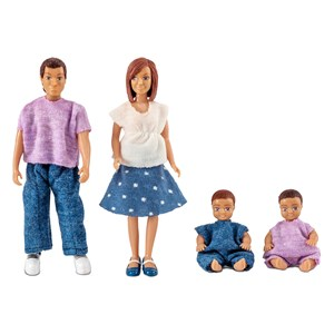 Image of LUNDBY Dolls Lundby Doll Family with 2 Babies 3 - 10 years (1451908)