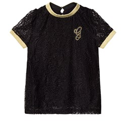 Guess G Branded Lace T-Shirt Black/Gold