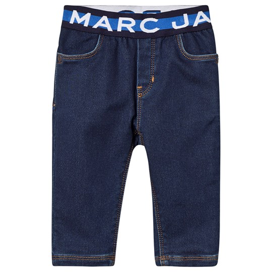Little Marc Jacobs Logo Pull Up Jeans Blue Denim Z10