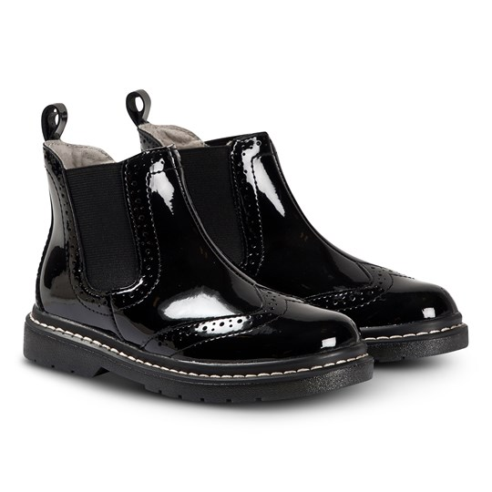 Lelli Kelly Noell Brogue Boots Black BLACK PATENT