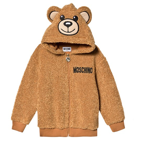 Moschino Kid-Teen Teddy Fleece Jacket Brown 20093