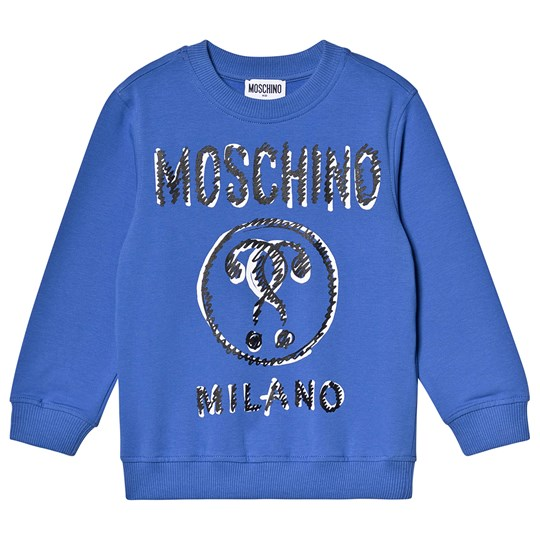 Moschino Kid-Teen Milano Branded Sweatshirt Blue 40295