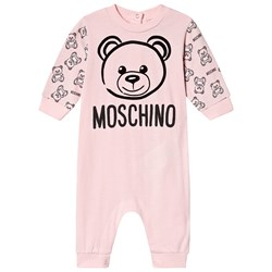 Moschino Kid-Teen Bear Branded One-Piece Pale Pink
