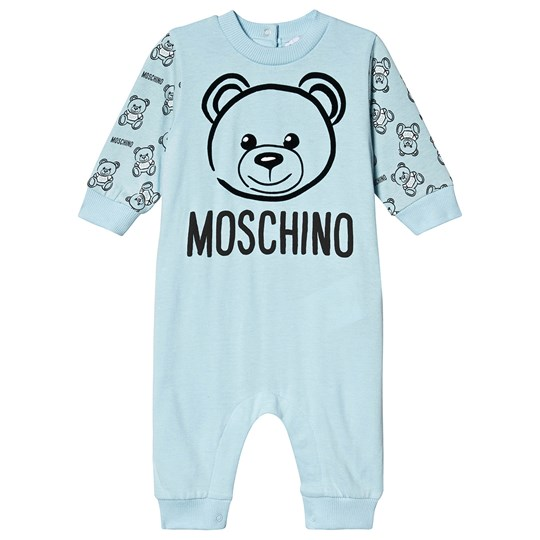 Moschino Kid-Teen Bear Branded One-Piece Pale Blue 40304