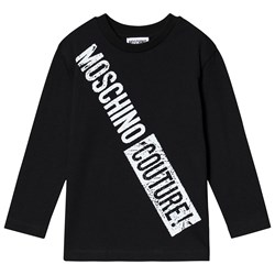 Moschino Kid-Teen Couture Branded T-Shirt Black