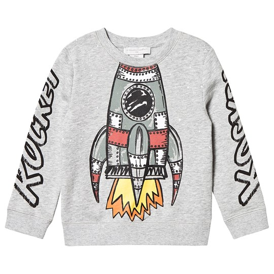 Stella McCartney Kids Rocket Print Sweatshirt Grey 1461