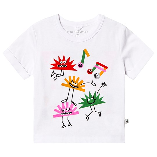 Stella McCartney Kids Hedgehog Throw Some Shapes T-shirt Vit 9082
