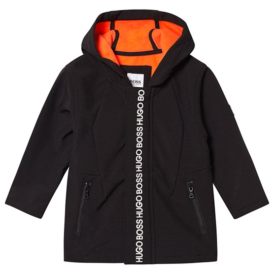 BOSS Tape Logo Hooded Jacket Black 09B