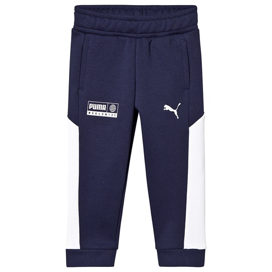Puma Branded Sweatpants Navy peacoat