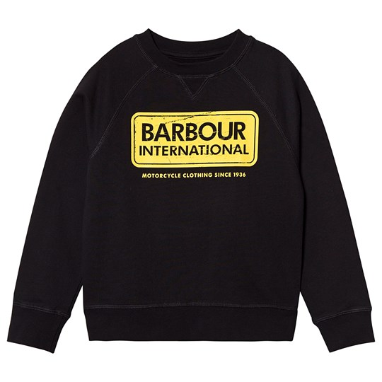 Barbour International Logo Sweatshirt Black/Yellow Black