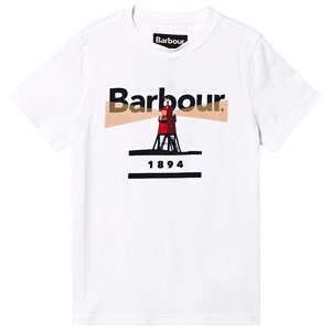 Bilde av Barbour Barbour Logo Lighthouse Tee White L (10-11 Years)