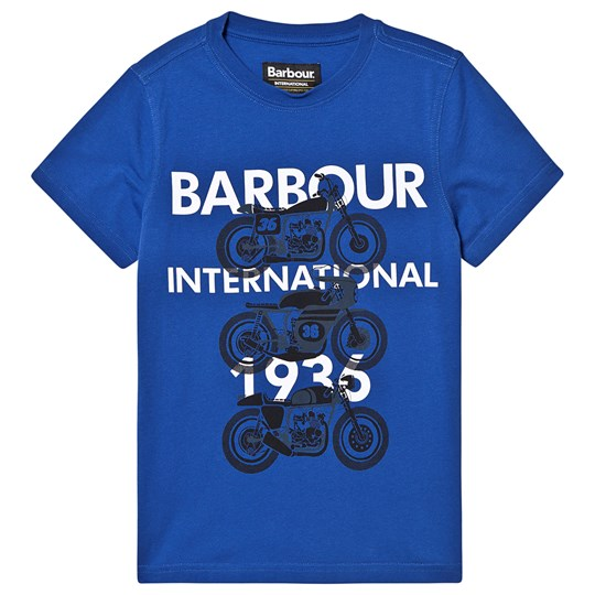 Barbour Tri Bike T-Shirt Blue Charge Blue