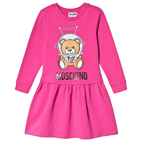 Moschino Kid-Teen Space Bear Sweat Mekko Fuchsia 50323