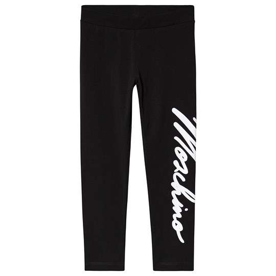 Moschino Kid-Teen Branded Script Leggings Black 60100