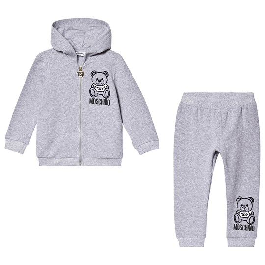 Moschino Kid-Teen Bear Branded Tracksuit Grey 60901