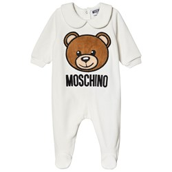 Moschino Kid-Teen Bear Velour Footed Baby Body Cream