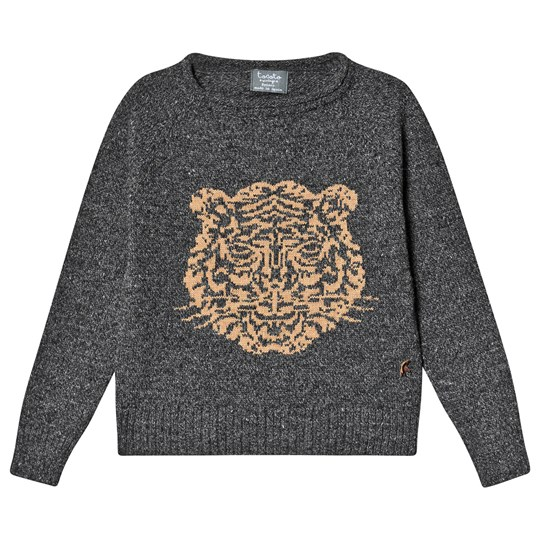 Tocoto Vintage Tiger Knit Sweater Dark Grey Dark grey