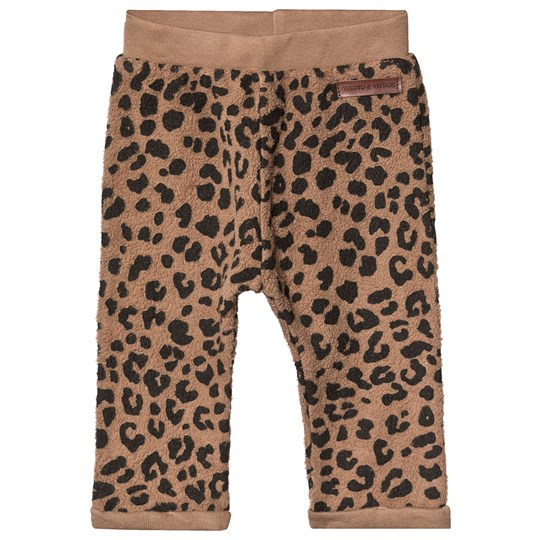 Tocoto Vintage Animal Print Baby Sweatpants Brown BROWN