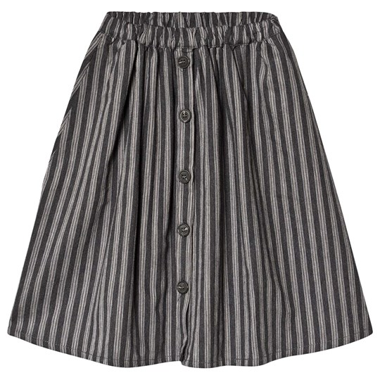 Tocoto Vintage Striped Button Kjol Mörkgrå Dark grey