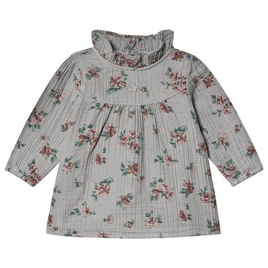 Tocoto Vintage Flower Baby Dress Grey Black