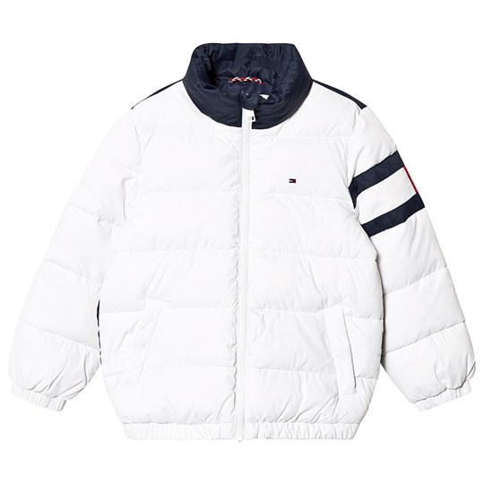 Tommy Hilfiger Color Block Puffer Jacket White/Navy 123