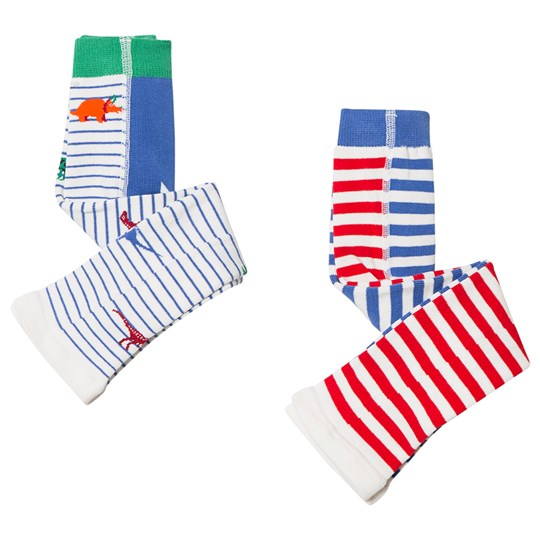 Tom Joule 2-Pack Stripe Lively Footless Tights Dino Multi Dino Stripe