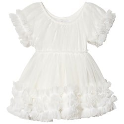 DOLLY by Le Petit Tom Frilly Dress White