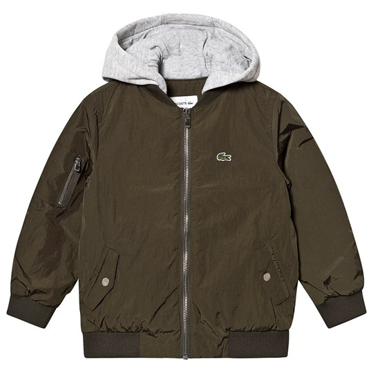 Lacoste Hooded Jacket Khaki 2X9