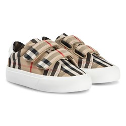 Burberry Check Velcro Low Sneakers Archive Beige/White