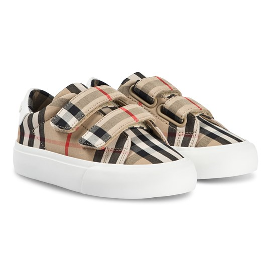 Burberry Check Velcro Low Sneakers Archive Beige/White ARCHIVE BEIGE/WHITE