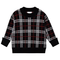 Burberry Donnie Check Sweater Black