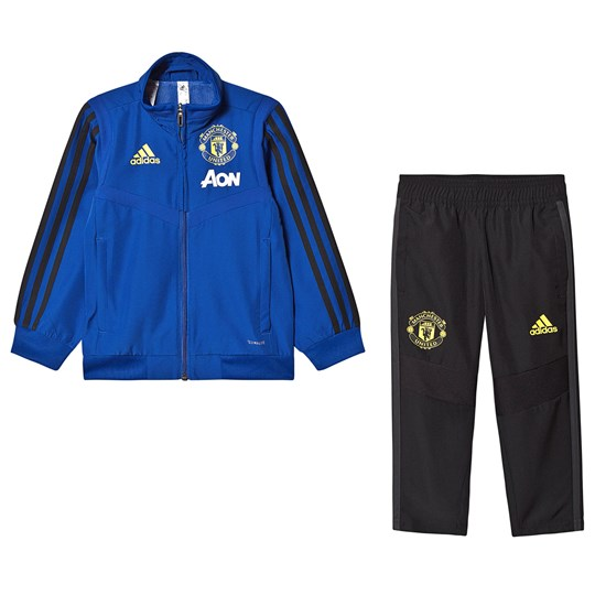 Manchester United Manchester United '19 Pre-Match Tracksuit Blue/Black Top:collegiate royal/black Bottom:BLACK/SOLID GREY