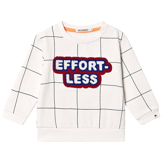 Billybandit Effortless Check Sweater White 117