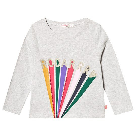 Billieblush Rainbow Roar Long Sleeve Tee Grey A07