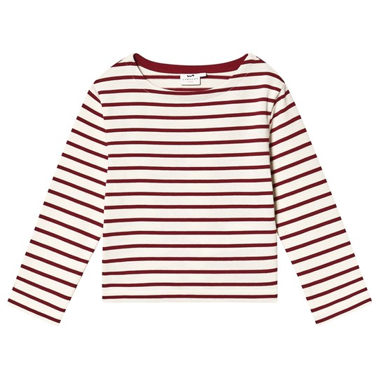 Cyrillus Stripe T-Shirt Red/White Ecru/bordeaux