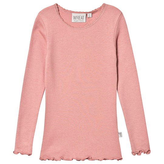 Wheat Rib Lace Tee Soft Rouge Soft Rouge