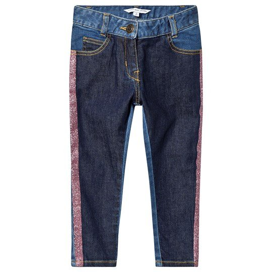 Little Marc Jacobs Contrast Glitter Denim Jeans Blue Z10