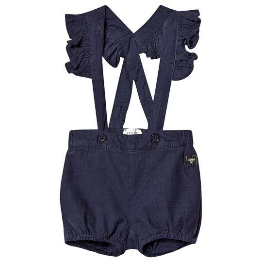 Carrément Beau Corduroy Shorts with Frill Straps Navy 849