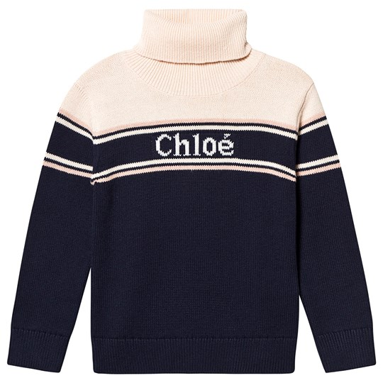 Chloé Roll Neck Jumper Navy 849