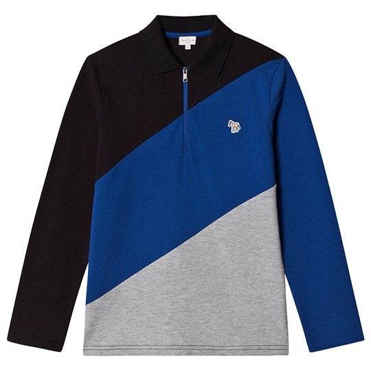 Paul Smith Junior Long Sleeve Block Polo Black 02