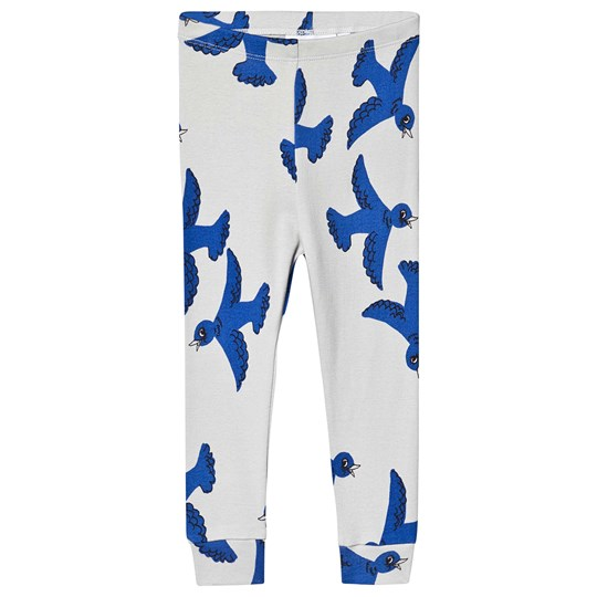 Mini Rodini Flying Birds Leggings Light Grey Light Grey