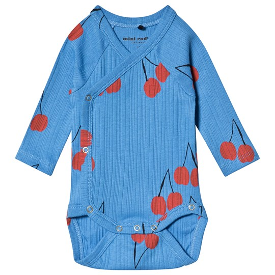 Mini Rodini Cherry Wrap Body Blue Blue