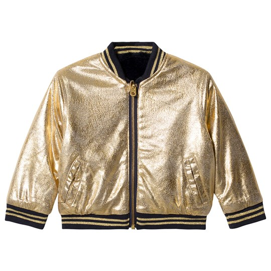 Little Marc Jacobs Reversible Bomber Jacket Navy and Gold 849