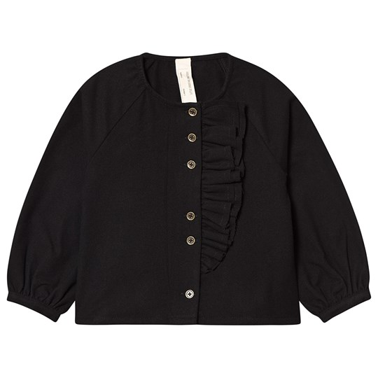 Little Creative Factory Cotton Smart Ruffle Detail Blouse Black Black