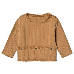 Little Creative Factory Quilted Bomull Topp med Lomme Camel