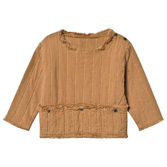 Little Creative Factory Quilted Bomull Topp med Lomme Camel Camel
