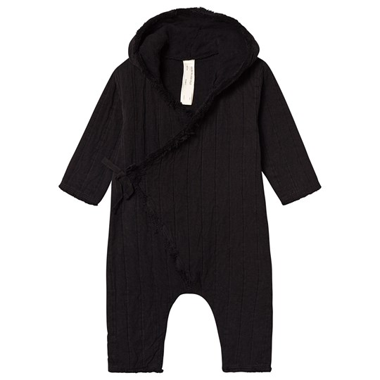 Little Creative Factory Cotton Quilted Wrap Footless One-Piece Black Black