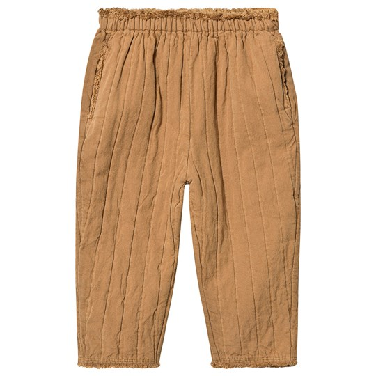 Little Creative Factory Quilted Frayed Detail Pants Camel Camel